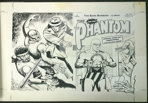 Original Cover Drawing of Antonio Lemos - Issue 1319 + Comic