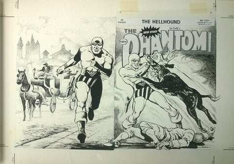 Original Cover Drawing of Antonio Lemos - Issue 1321 + Comic