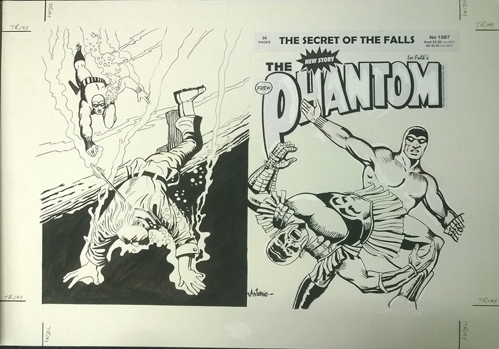 Original Cover Drawing of Antonio Lemos - Issue 1387 + Comic