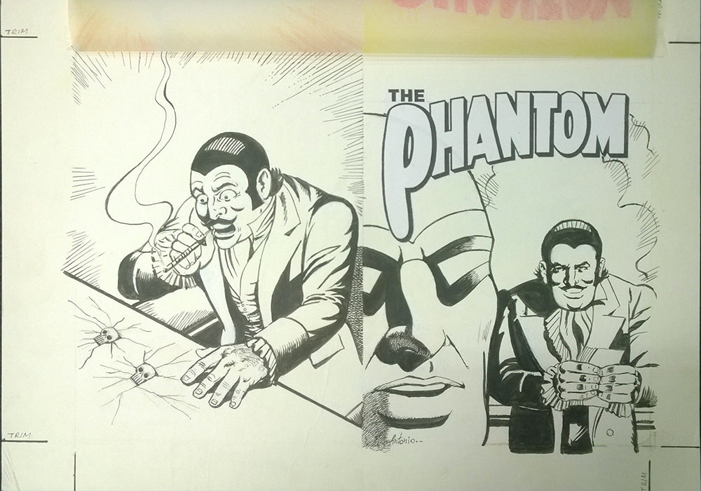 Original Cover Drawing of Antonio Lemos - Issue 1584 + Comic