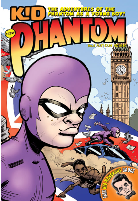 Kid Phantom Issue No 5, 2018 + Phantom's Universe card #16 Capt Cleaver
