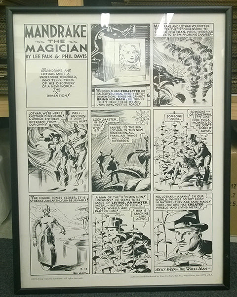 Mandrake -  Framed proof from 1976 no2