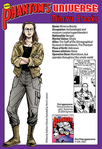 Phantom's Universe Character Card #20 - Minerva Brooks