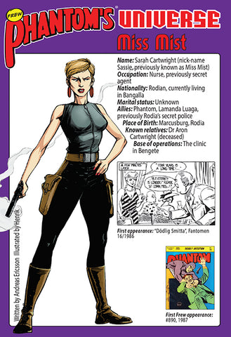 Phantom's Universe Character Card #08 - Miss Mist