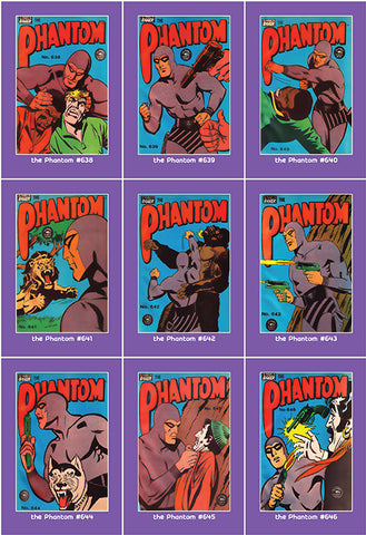 Phantom Philecard #638-646