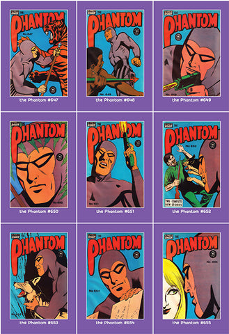 Phantom Philecard #647-655