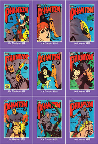 Phantom Philecard #665-673