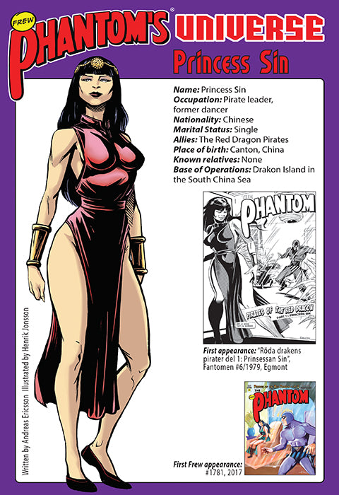Phantom's Universe Character Card #12 - Princess Sin