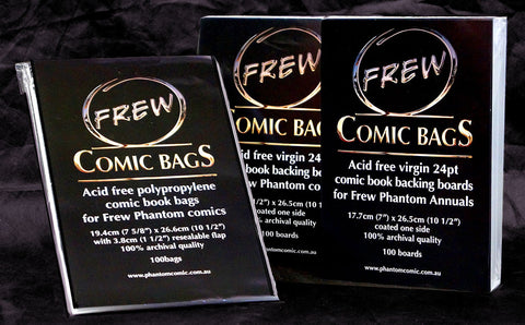 Frew Comic Boards (100 per pack 19cm x 26.5cm)