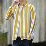 Load image into Gallery viewer, Men's Casual, Long Sleeve, Striped Shirt