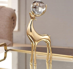 Ambience Golden Deer Figurine