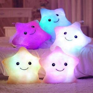 Luminous Colorful Star Pillow