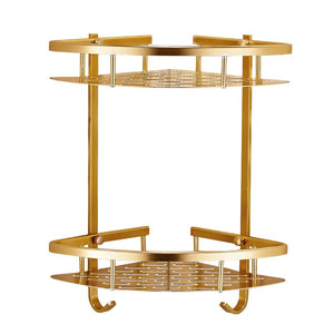 Deluxe Golden Bathroom Shelf