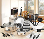 Load image into Gallery viewer, Ironware Stainless Steel Cooking Set