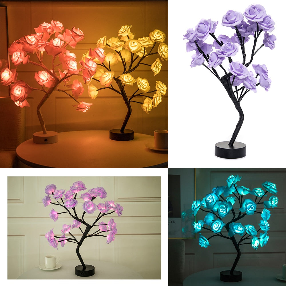 Imprismo™ Table Lamp Rose Flower Tree