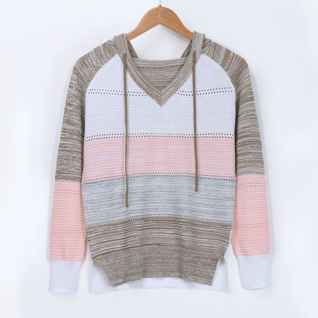 Vintage Patchwork Women Sweater Top