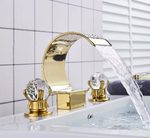 Load image into Gallery viewer, Amix Golden Waterfall Basin Faucet