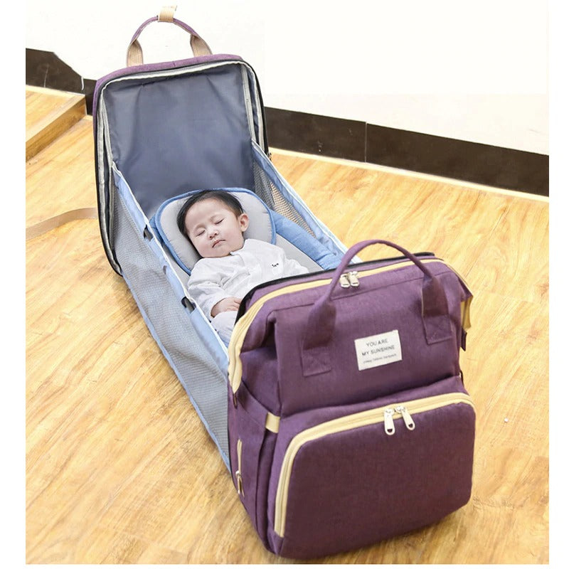 Portable Folding Crib and Mommy Bag