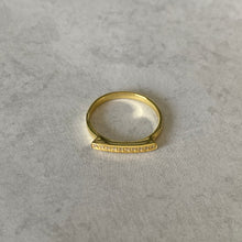 Load image into Gallery viewer, Gold CZ Micro Pavé Bar Ring