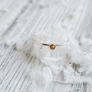 Mustard Seeds Stackable Ring, Sterling Silver