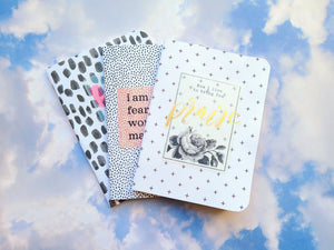 Set of 3 mini notebook set, Spots