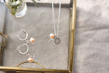 Load image into Gallery viewer, Custom Pearl Initial Necklace