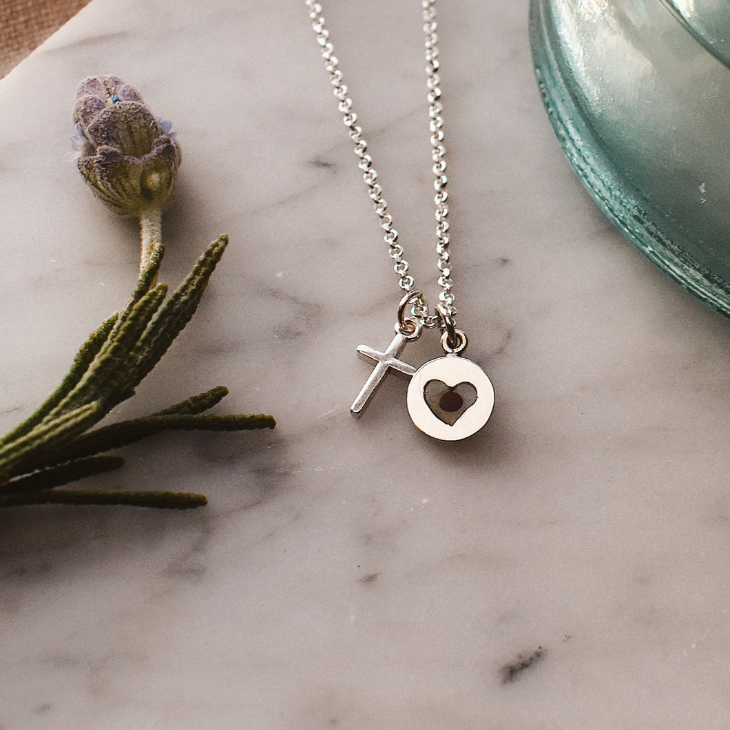 Healed Heart Sterling Silver Necklace PreOrder