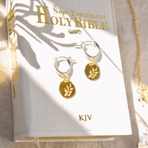 Olive Branch Mixed Metal Earrings