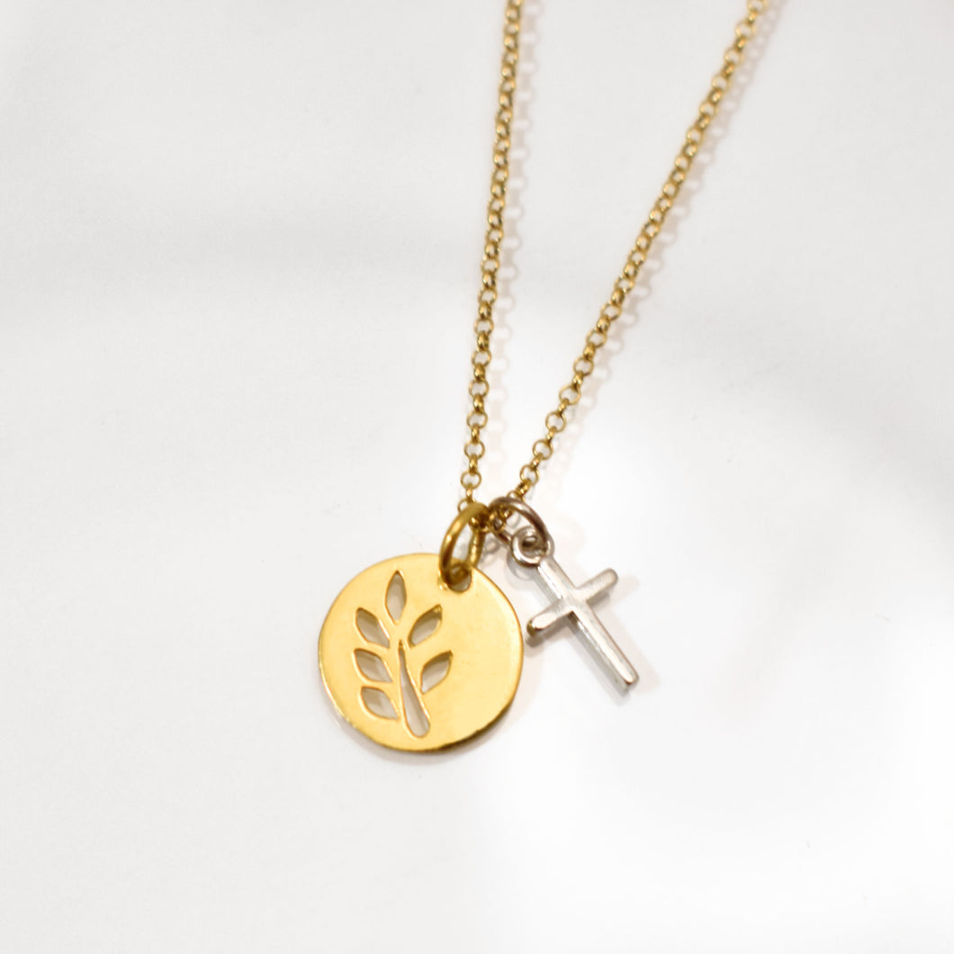 Olive Branch Gold Necklace