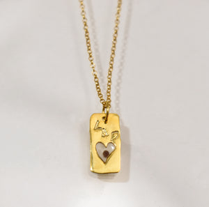 Open Heart Gold Necklace PreOrder
