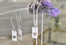 Load image into Gallery viewer, Open Heart Sterling Silver Earrings PreOrder