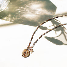 Load image into Gallery viewer, Rose Gold Olive Branch Necklace