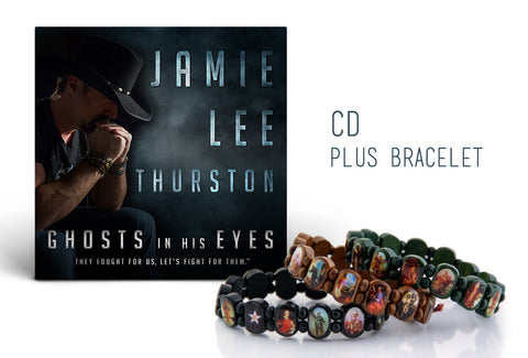 'Ghosts In His Eyes' CD & Battle Saint™ Bracelet