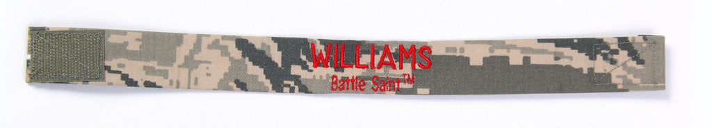 "Hero Bracelet - 1"" wide w/ velcro and embroidered text on TOP"