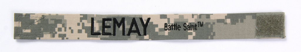 "Hero Bracelet - 1"" wide w/ velcro and embroidered text on LEFT"