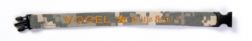 "Hero Bracelet - 1/2"" wide w/ buckle, embroidered text and GOLD STAR"