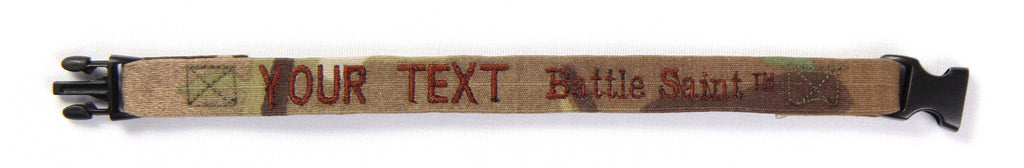 "Hero Bracelet - 1/2"" wide w/ buckle and embroidered text"