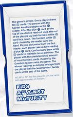 Kids Against Maturity: Card Game for Kids and Humanity, Super Fun Hilarious for Family Party Game Night, Expansion Pack #2 (Core Game Sold Separately)