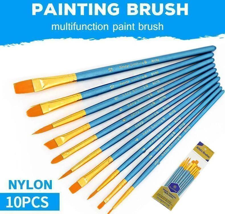 10x High Quality Paint Brushes Diy Paint By Numbers