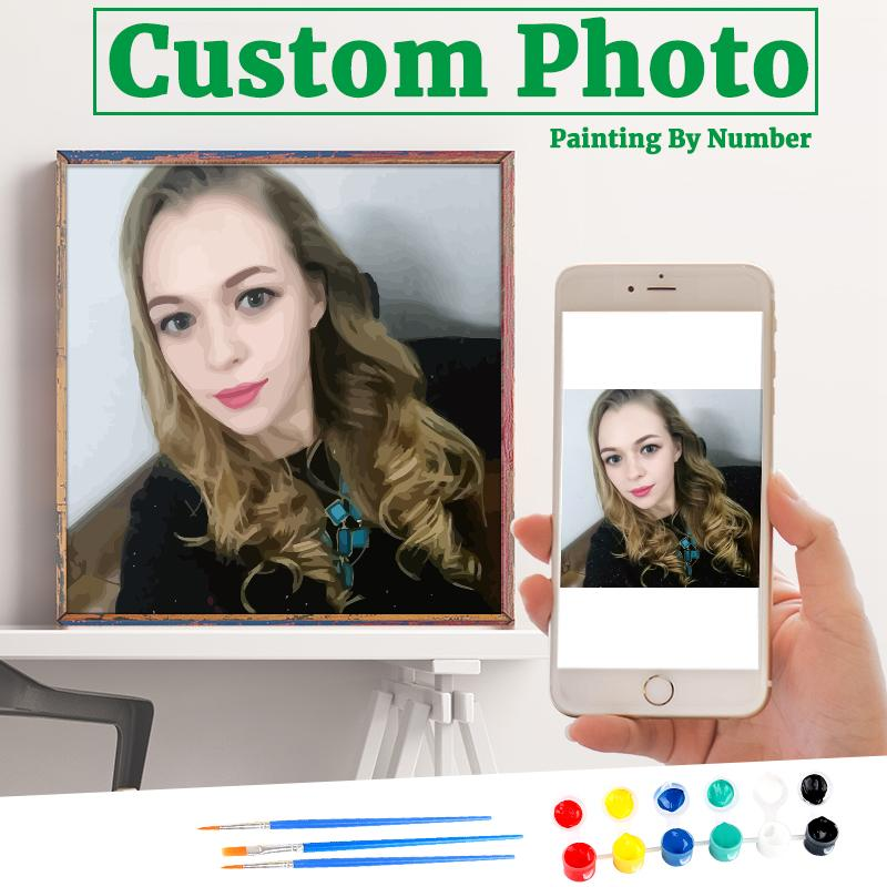 Personality Photo Customized DIY Paint By Numbers Kits