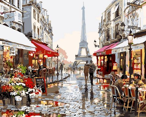 Landscape Paris Paint By Numbers Kits UK With Frame GX1071
