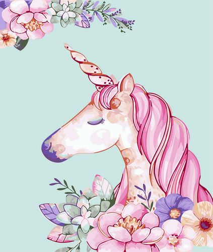 Animal Unicorn Paint By Numbers Kits UK For Beginners GX1424