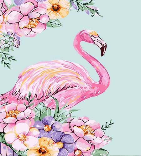 Flamingo Paint By Numbers Kits UK For Beginners GX1425