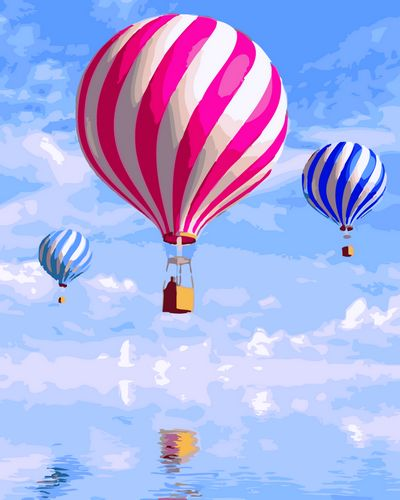 Pattern Hot Air Balloon Paint By Numbers Kits UK For Beginners GX988