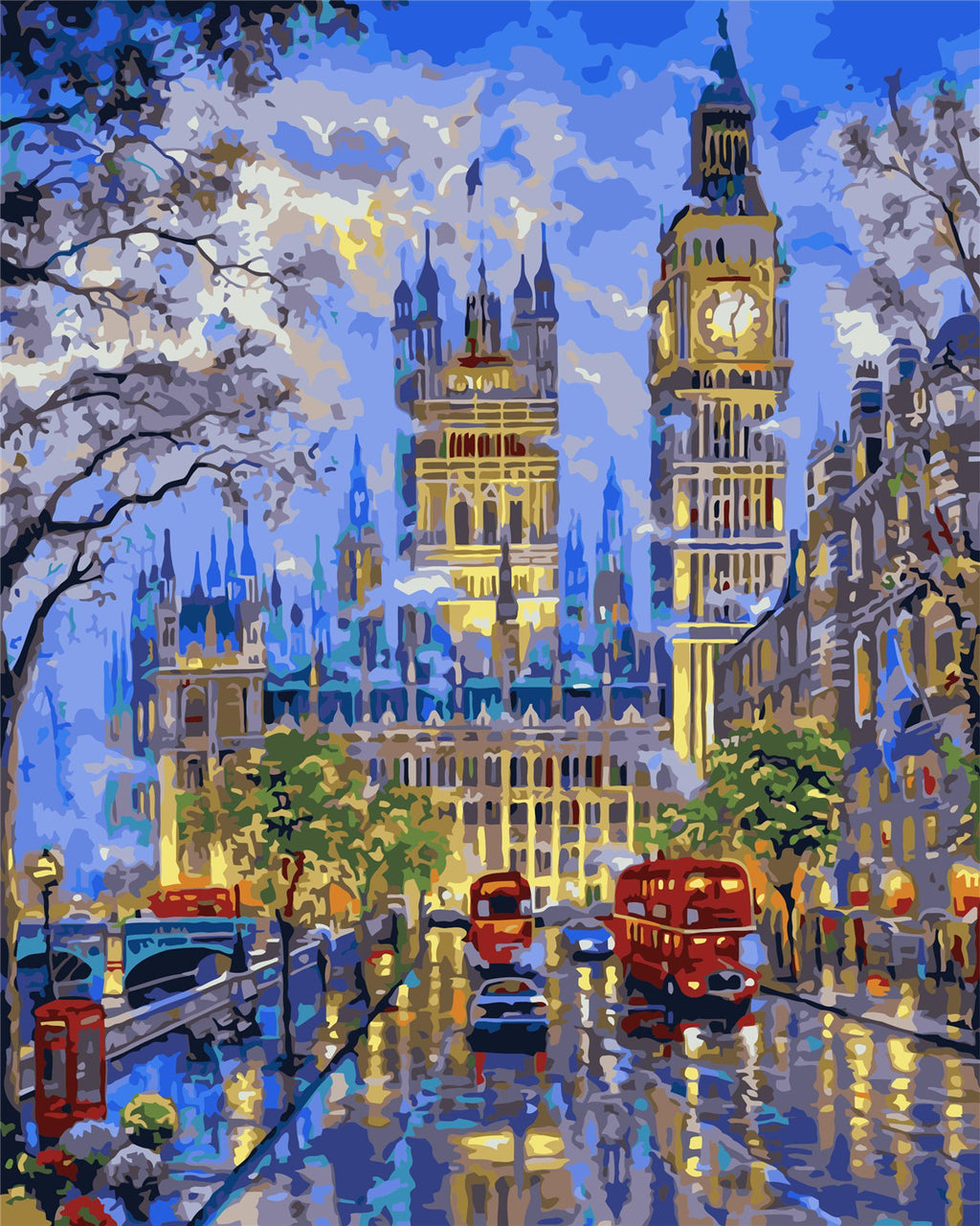 Landscape London Night Paint By Numbers Kits UK For Adult HQD1219