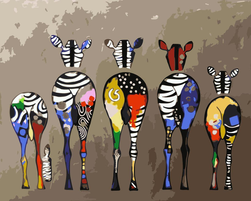 Animal Zebra Paint By Numbers Kits UK For Adult HQD1238