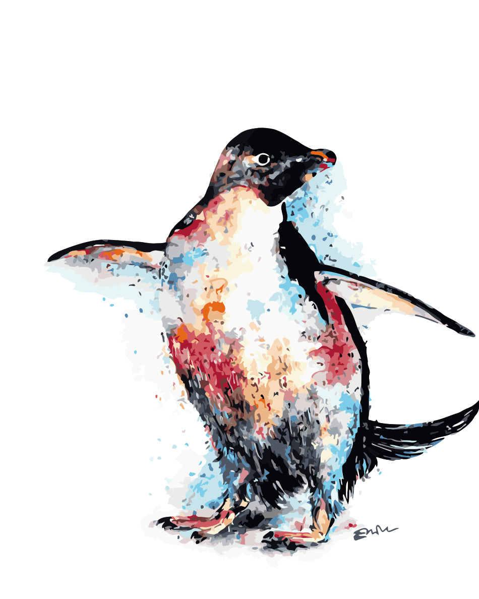 Animal Penguin Paint By Numbers Kits UK For Adult HQD1239