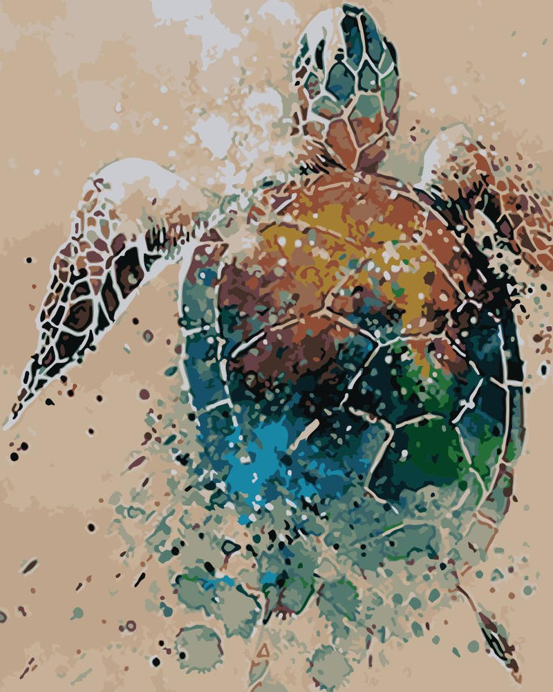 Animal Turtle Paint By Numbers Kits UK For Adult HQD1254