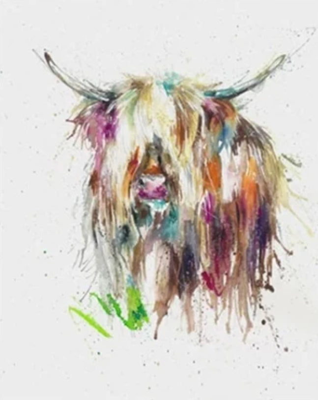 Animal Cow Paint By Numbers Kits UK For Adult HQD1260