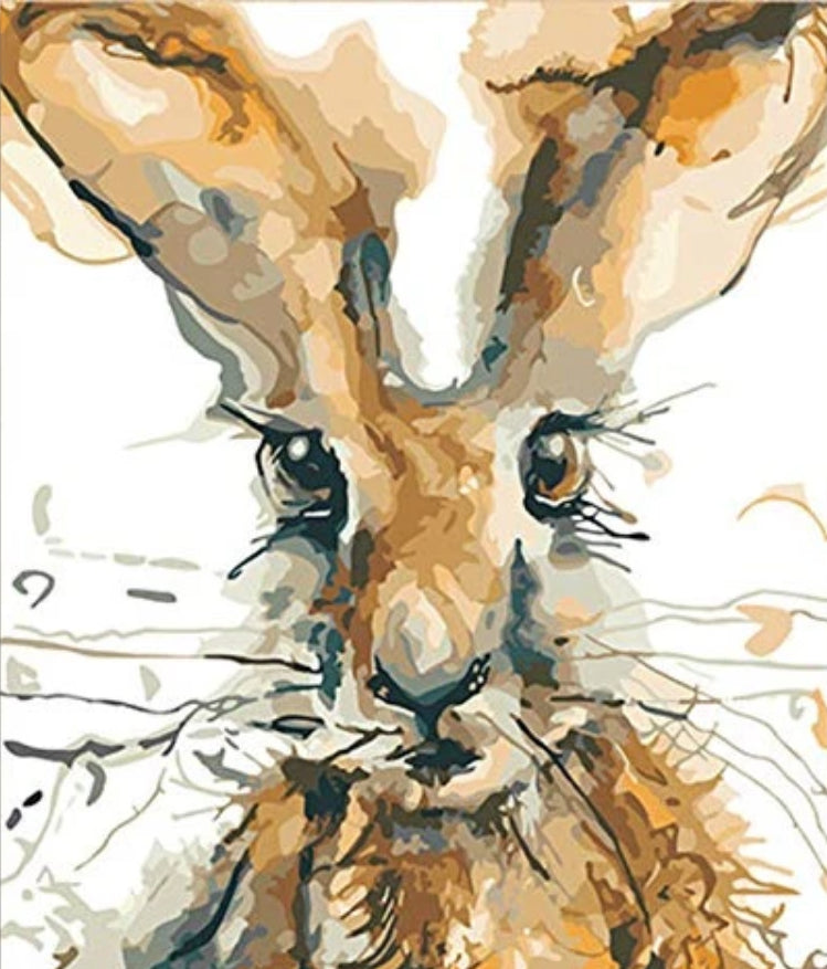 Animal Rabit Paint By Numbers Kits UK For Adult HQD1264
